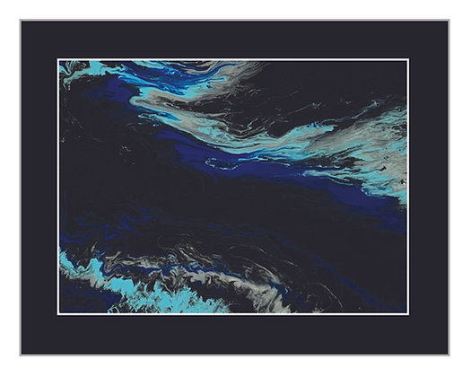 Abstract Sapphire and Aqua Water Print