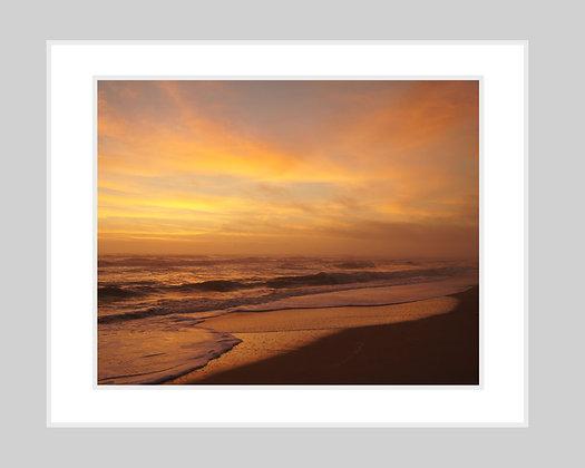 Shades of Orange Seascape Print