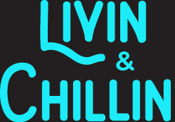 Livin and Chillin Car Decal - Water Blue