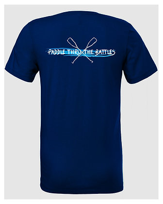 Livin and Chillin Paddle Thru the Battles Mens Moisture Wicking Shirt
