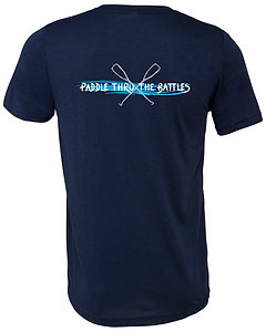 Livin and Chillin Paddle Thru the Battles Mens Moisture Wicking Shirt