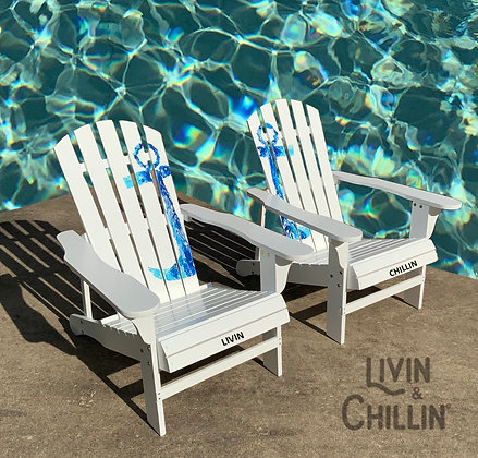 Livin and Chillin Nautical Anchor Adirondack Chairs