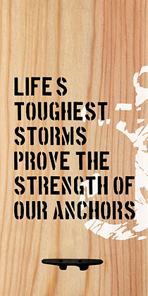 Strength of Our Anchors Wall Decor with Boat Tie Hanger