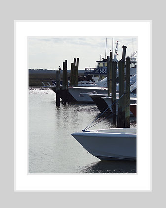 Boats in Marina Print