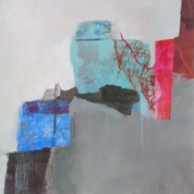 17 x 17 cm Mixed media, monoprint and collage on paper Reference : 20-17x17-F4.JPG