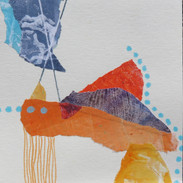 13 x 13 cm Mixed media, monoprint and collage on paper Reference: 19-13x13CI350g1.JPG