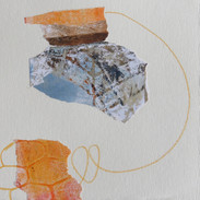 14 x 14 cm Mixed media, monoprint and collage on paper Reference: 19-14x14CI350g2.JPG
