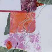 20 x 20 cm Mixed media, monoprint and collage on paper Reference: 1820x20F300g336c.JPG