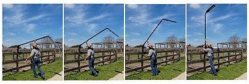 Fence Solar Lowering Light System