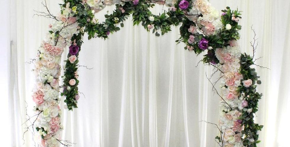 Silk Flower arch Wall Stage Wedding Decor WD009