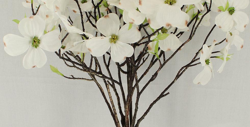 5PCS Artificial Dogwood Blossom Silk Flowers