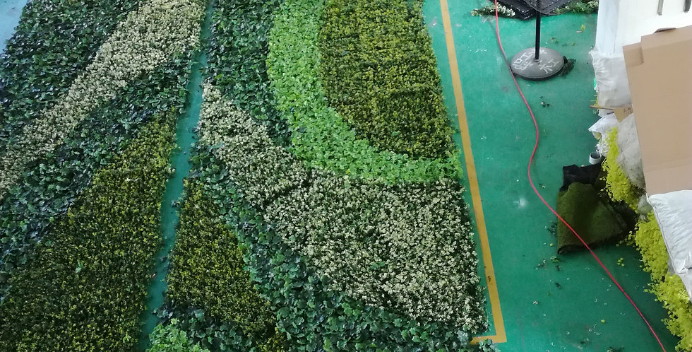 Customized artificial vertical pattern plant wall PLANTWALL029