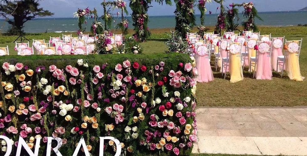 Customized flower wall FLOWERWALL016