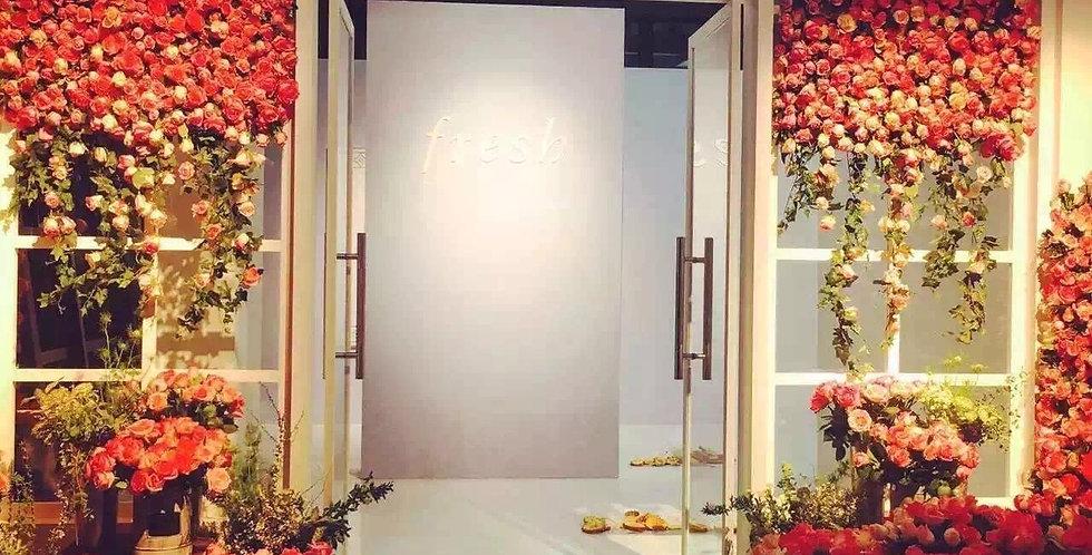 Customized flower wall FLOWERWALL008