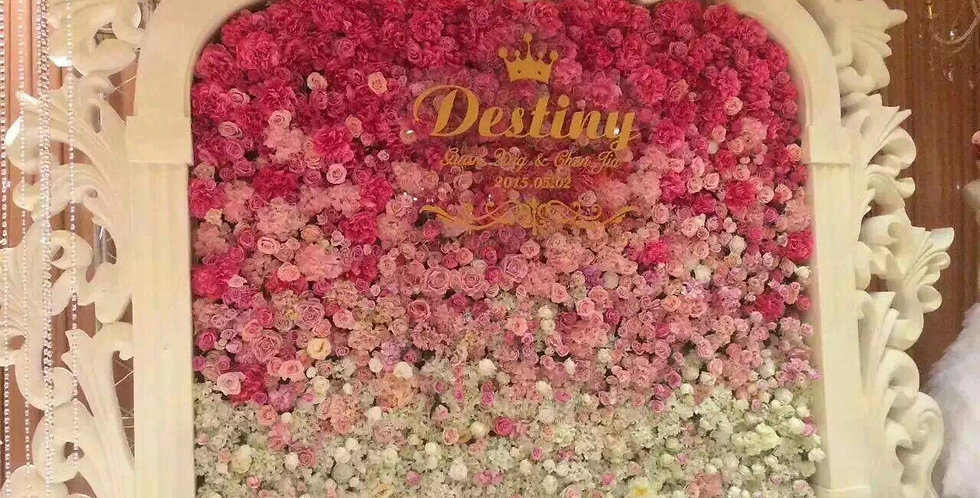 Customized flower wall FLOWERWALL010