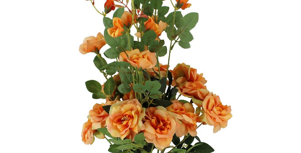 High stem Mini Rose Artificial Flowers(Pack of 3)