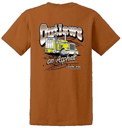Outlaws on Asphalt T-shirt Orange