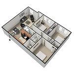 Big Red Apartments 3 Bedroom/2 Bath 1,050-1,100 Square Feet
