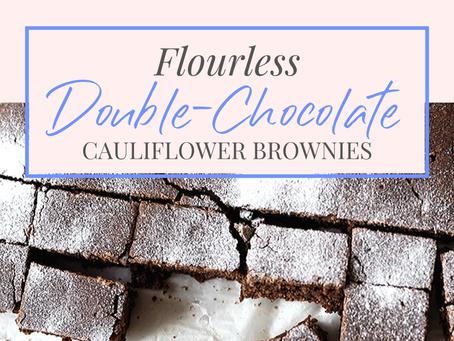 Flourless Double-Chocolate Cauliflower Brownies