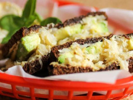 Grilled Sauerkraut Avocado Sandwich