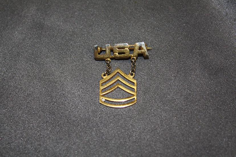 WWII US Buck Sergeant Sweetheart Pin