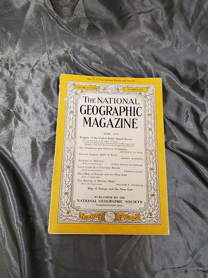 WWII NATIONAL GEOGRAPHIC JUNE 1943
