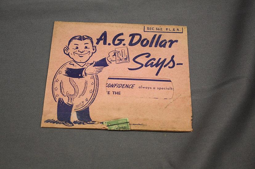 Vintage Credit Card Marketing Card