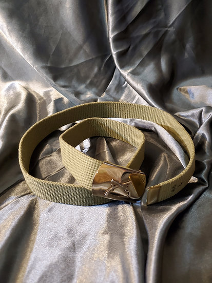 WWII MILITARY POLICE TAN BELT