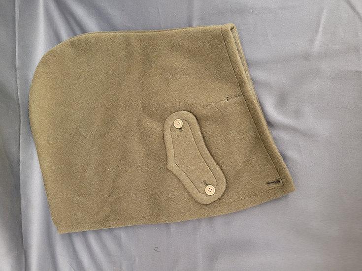 WWII JAPANESE HOOD FOR VISOR CAP - GREAT COAT