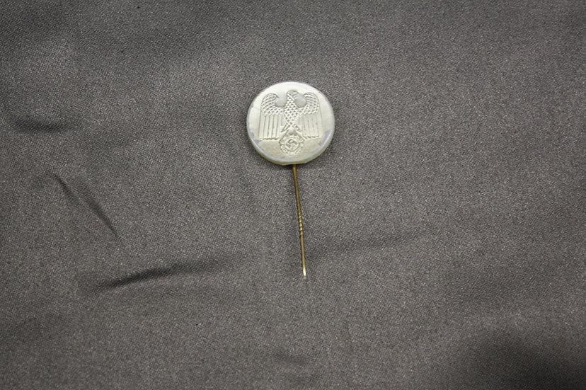 WWII German NSDAP Plastic Pearl Finish Stick Pin