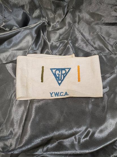 WWI ERA YWCA GIRLS RESERVE ARM BAND