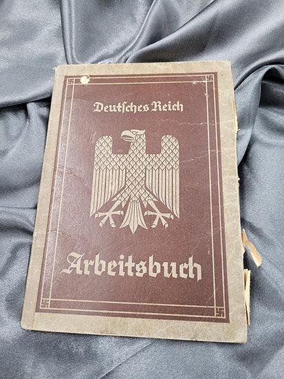 WWII GERMAN ARBEITSBUCH