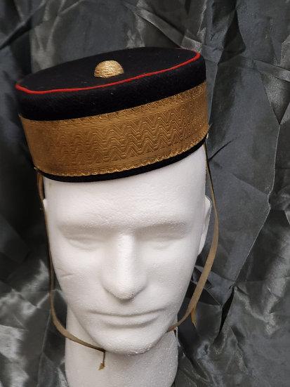 WWII ERA CANADIAN MILITARY ACADEMY PILLBOX HAT