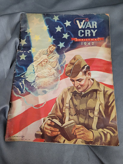 WWII SALVATION ARMY'S CHRISTMAS 1942 WAR CRY MAGAZINE