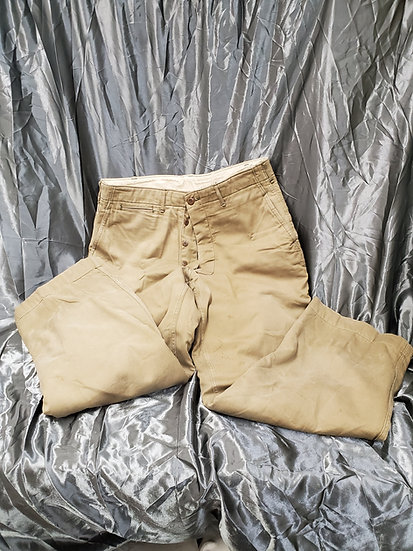 """WWII US KERSEY LINED """"TANKER"""" TROUSERS"""
