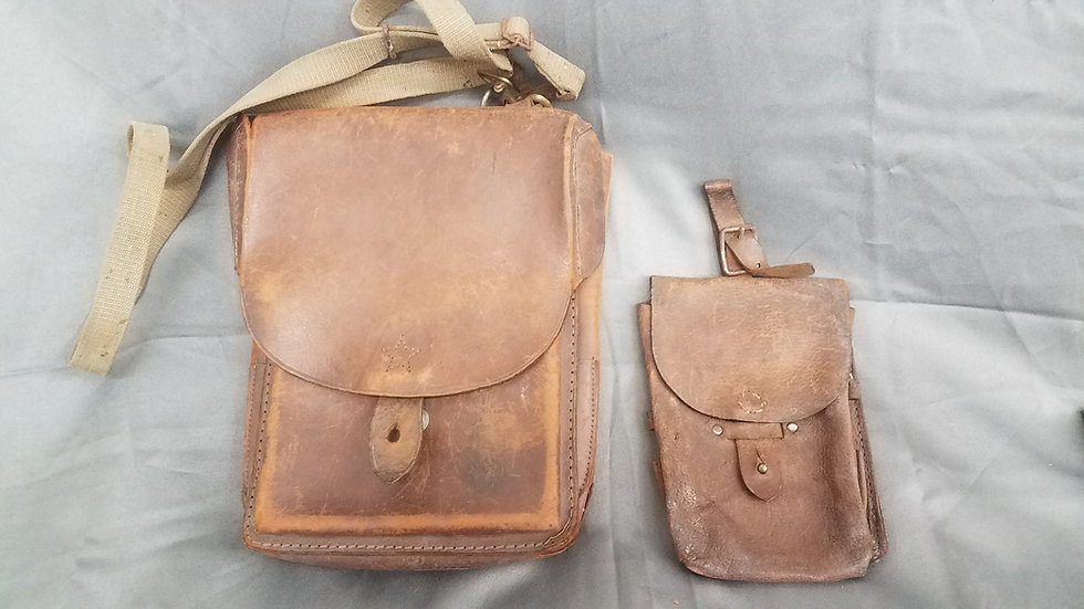 WWII JAPANESE OFFICER MAP CASE WITH EXTRA SATCHEL