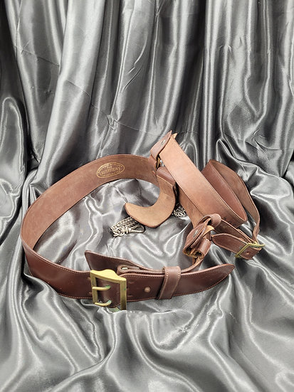 WWII US SAM BROWNE BELT WITH SABER CHAIN