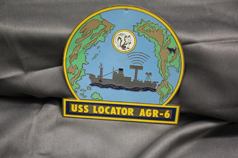 US Navy USS Locator AGR-6 Plaque