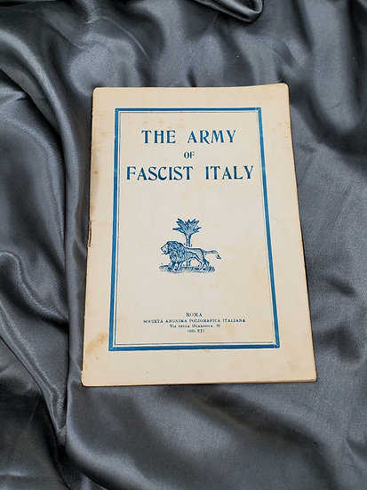 WWII ERA THE ARMY OF FACIST ITALY BOOKLET