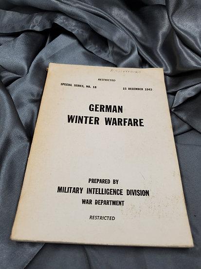 WWII US GERMAN WINTER WARFARE MANUAL