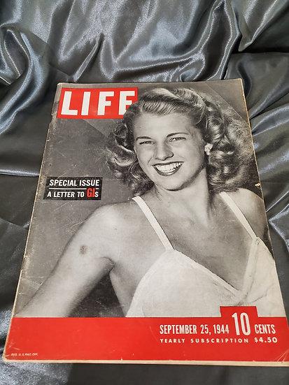 WWII LIFE MAGAZINE LETTER TO GI SEPTEMBER 25 1944