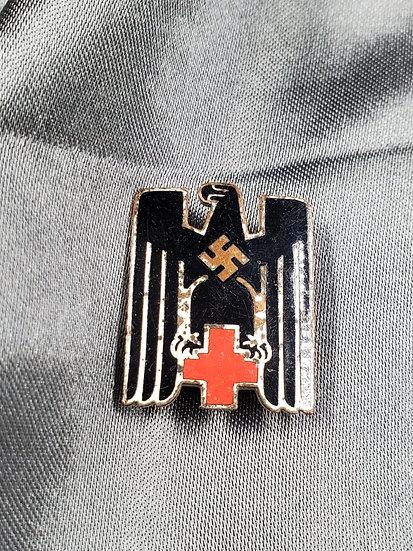 WWII GERMAN RED CROSS HAT BADGE