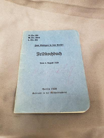 WWII GERMAN FIELD COOKBOOK