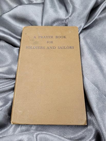WWII ERA PRAYER BOOK SOLDIER AND SAILORS
