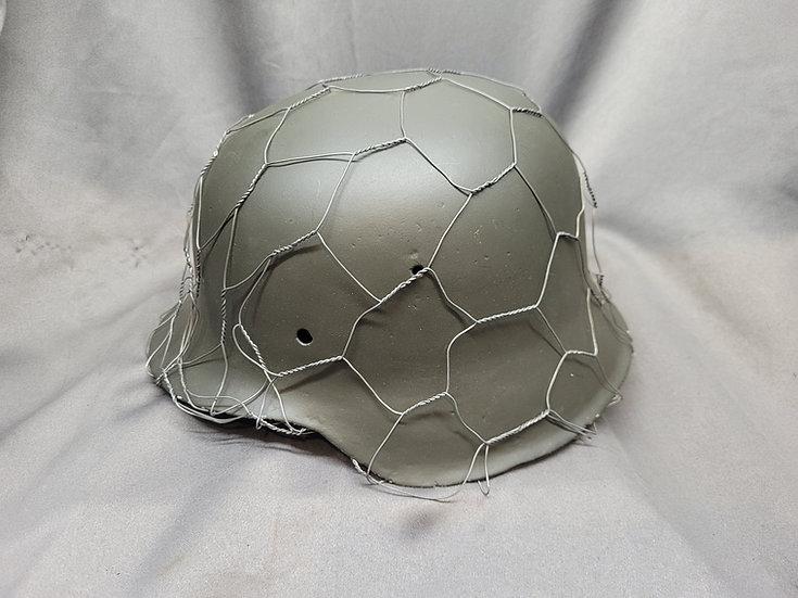 WWII German M42 Helmet Shell Restored with Chicken Wire