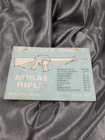 M16A1 RIFLE OPERATORS MANUAL