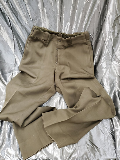 "WWII OFFICER ELASTIQUE ""CHOCOLATE"" TROUSERS"