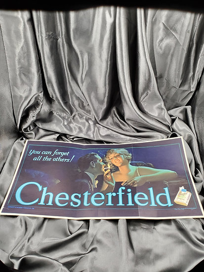 VINTAGE CHESTERFIELD 1930'S CIGARETTE POSTER AD