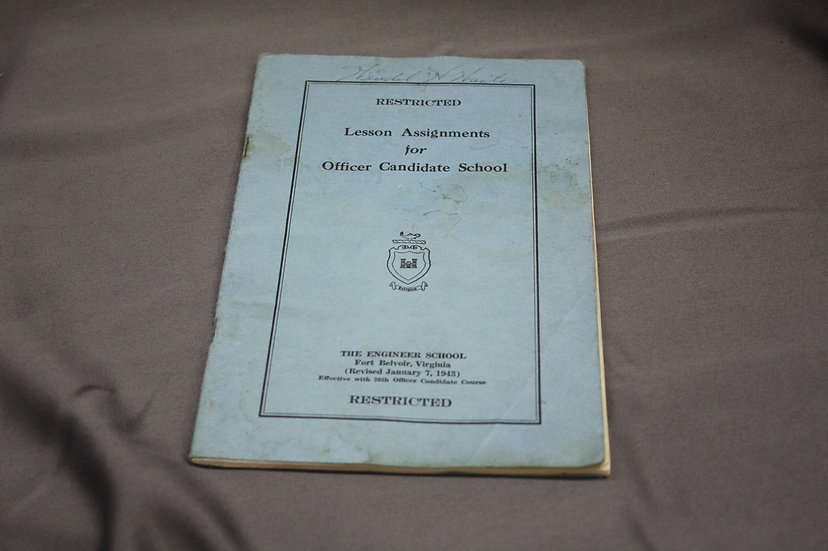 Lesson Assignments for Officer Candidate School