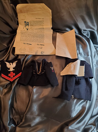 PATTERN FOR US NAVY DOLL UNFINISHED